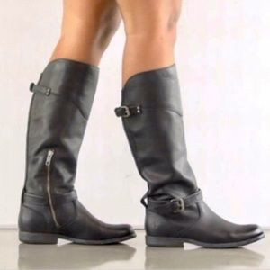 'Phillip' Tall Wide Calf Boot Extended Calf Buckle